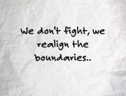 realign boundaries