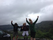 Jumping kids on the Ring of Kerry road