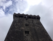 Looking up to the Blarney stone